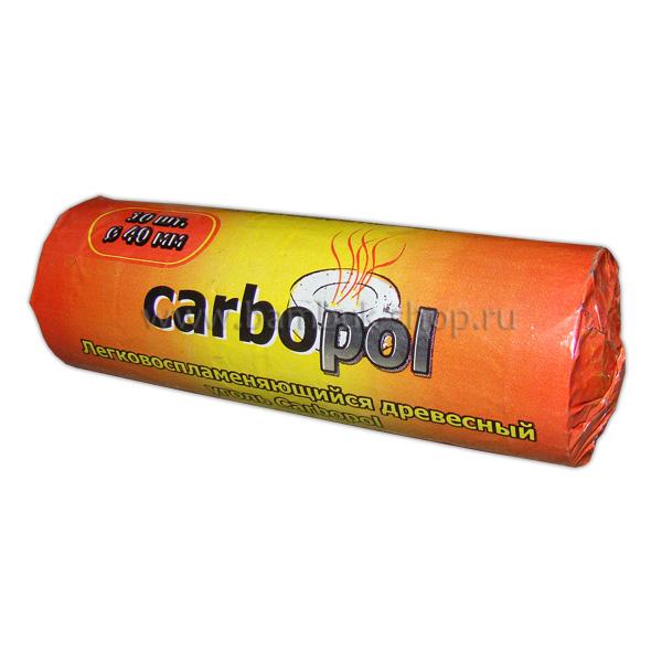 """Саморазжигающийся уголь """"Carbopol"""" 40мм"""
