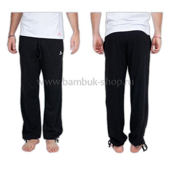 Штаны на шнурах мужские черные