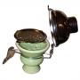 Чашка внешняя керамическая с крышкой