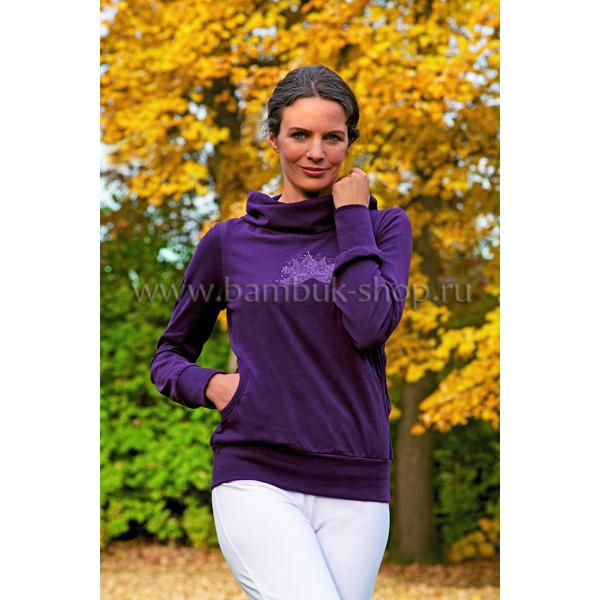 Пуловер женский с комфортным воротником