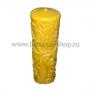 Свеча восковая ручной работы 12 см